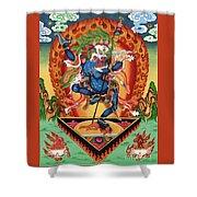 Simhamukha - Lion Face Dakini Shower Curtain