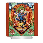 Simhamukha - Lion Face Dakini Shower Curtain