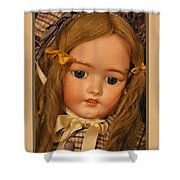 Simon And Halbig Antique Doll Shower Curtain