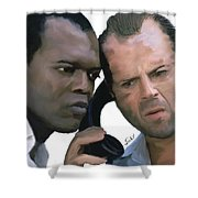 Simon Sez - Die Hard Shower Curtain