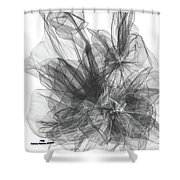 Simple Black And White Abstract Shower Curtain