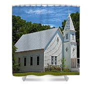 Simple Country Church Shower Curtain
