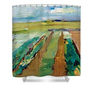 Simple Fields Shower Curtain