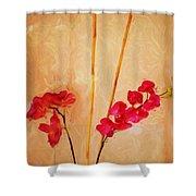 Simple Floral Arrangement  Shower Curtain