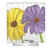 Simple Flower Shower Curtain