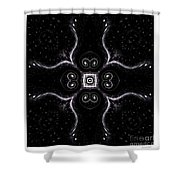 Simple In Black And White Shower Curtain