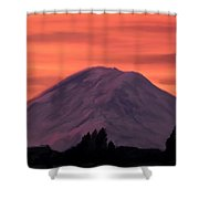 Simple Mountain Shower Curtain