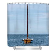 Simple Sailboat  Shower Curtain