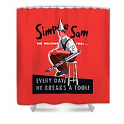 Simple Sam The Wasting Fool Shower Curtain