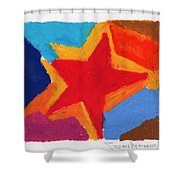 Simple Star Shower Curtain