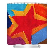 Simple Star-straight Edge Shower Curtain