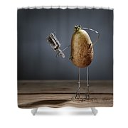 Simple Things - Fading Beauty Shower Curtain