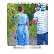 Simple Treasures Shower Curtain