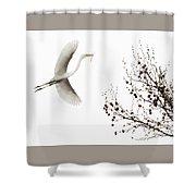 Simplicity Shower Curtain by Melinda Hughes-Berland
