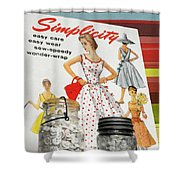 Simplicity Vintage Sewing Pattern - Color Shower Curtain