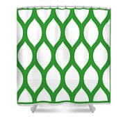 Simplified Latticework With Border In Dublin Green Shower Curtain