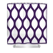 Simplified Latticework With Border In Purple Shower Curtain