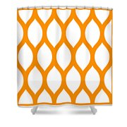 Simplified Latticework With Border In Tangerine Shower Curtain