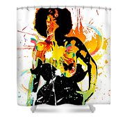Simplistic Splatter Shower Curtain