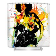 Simplistic Splatter Shower Curtain by Chris Andruskiewicz