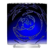 Simply Blue Shower Curtain