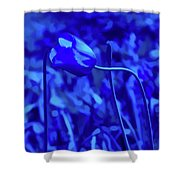 Simply Blue Pink Tulip Shower Curtain