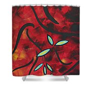 Simply Glorious 1 By Madart Shower Curtain by Megan Duncanson