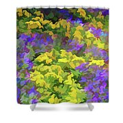 Simply Soft Colorful Garden Shower Curtain