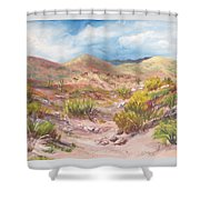 Simply The Desert Shower Curtain by Jean Ann Curry Hess