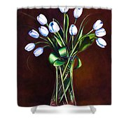 Simply Tulips Shower Curtain by Shannon Grissom