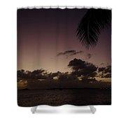 Simpson Bay Purple Sunset Saint Martin Caribbean Shower Curtain