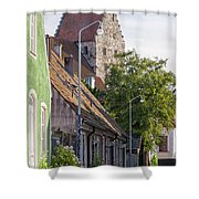 Simrishamn Street Scene Shower Curtain
