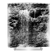 Simulated Pencil Drawing Tinker Falls. Shower Curtain