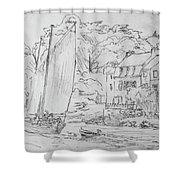 Sinagot At The Pink House Vannes France Shower Curtain