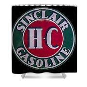 Sinclair Gasoline Porcelain Sign Shower Curtain