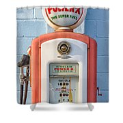 Sinclair Power-x Gas Pump Shower Curtain