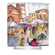 Sineu Market In Majorca 01 Shower Curtain