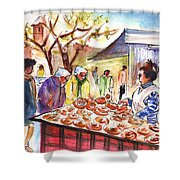 Sineu Market In Majorca 04 Shower Curtain