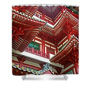 Singapore Buddha Tooth Temple Shower Curtain