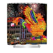 Singapore Chinatown 2017 Lunar New Year Fireworks Shower Curtain
