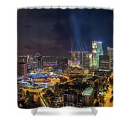 Singapore City Lights Shower Curtain