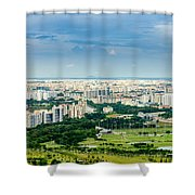 Singapore Cityscape Shower Curtain