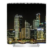 Singapore Evening Cascade Shower Curtain
