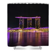 Singapore In Purple 1 Shower Curtain