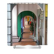 Singapore Porticoes Shower Curtain