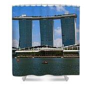 Singapore Ship Top Shower Curtain