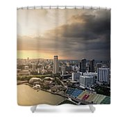 Singapore Storm Brewing Shower Curtain