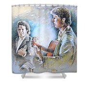 Singer And Guitarist Flamenco Shower Curtain