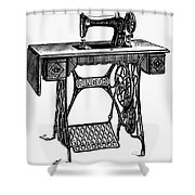 Singer Sewing Machine Shower Curtain