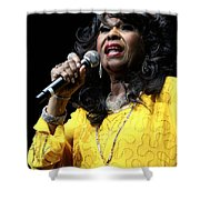 Singer Shirley Alston Reeves  Shower Curtain